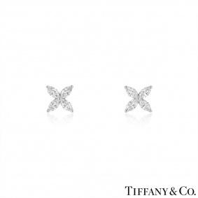 Tiffany & Co. Platinum Diamond Victoria Earrings